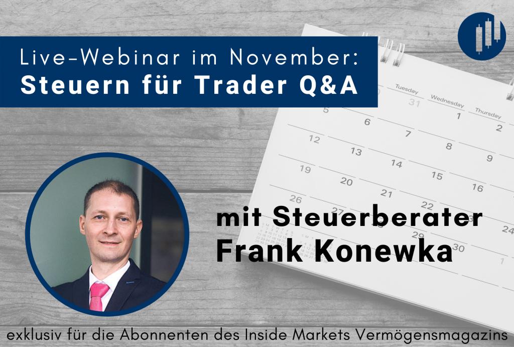 Live-Webinar mit Steuerberater Frank Konewka