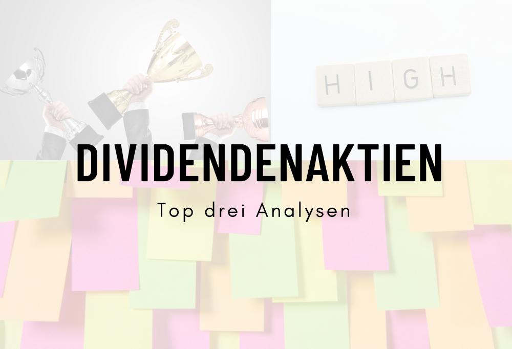 top 3 dividenden aktien analysen